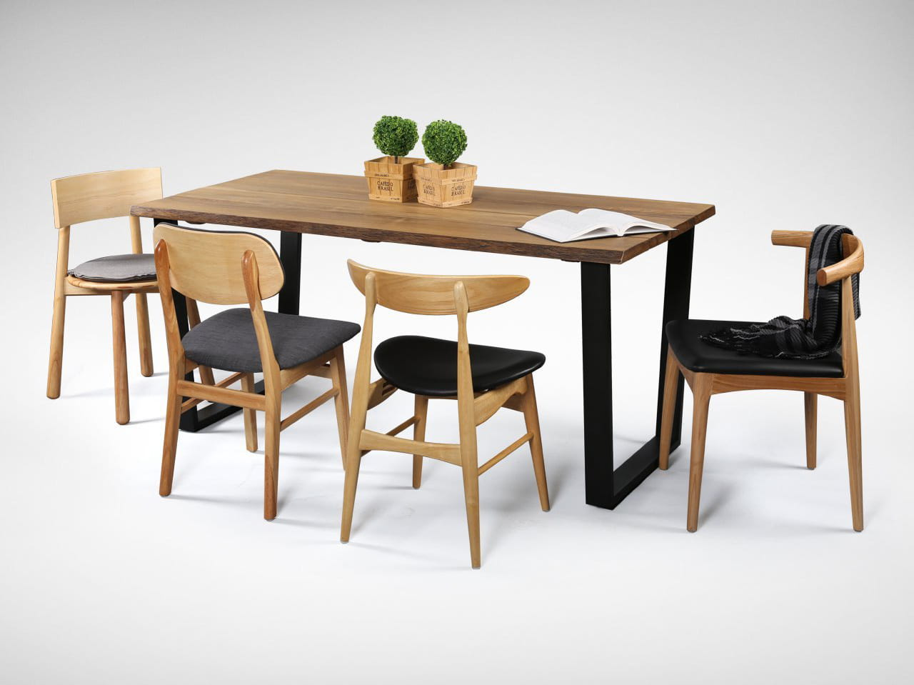 Sticking to the Same Colour when Choosing Multiple Styles of Dining Chairs - Comfort Furniture