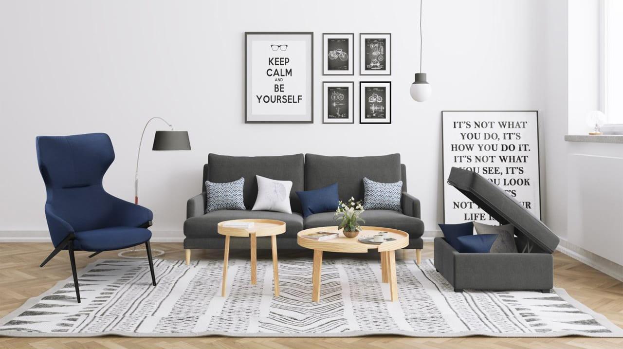 Minimalistic Living Room Furniture with Storage - Comfort Furniture
