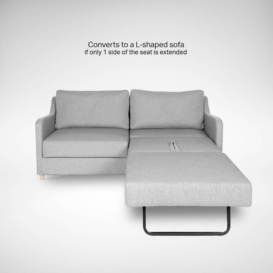 Convertible Sofa Bed into L-Shape Sofa - Comfort Furniture