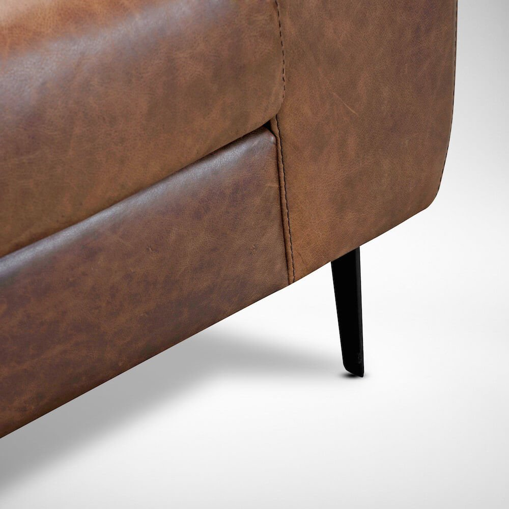 Leather Sofa Detailed View - Comfort Furniture