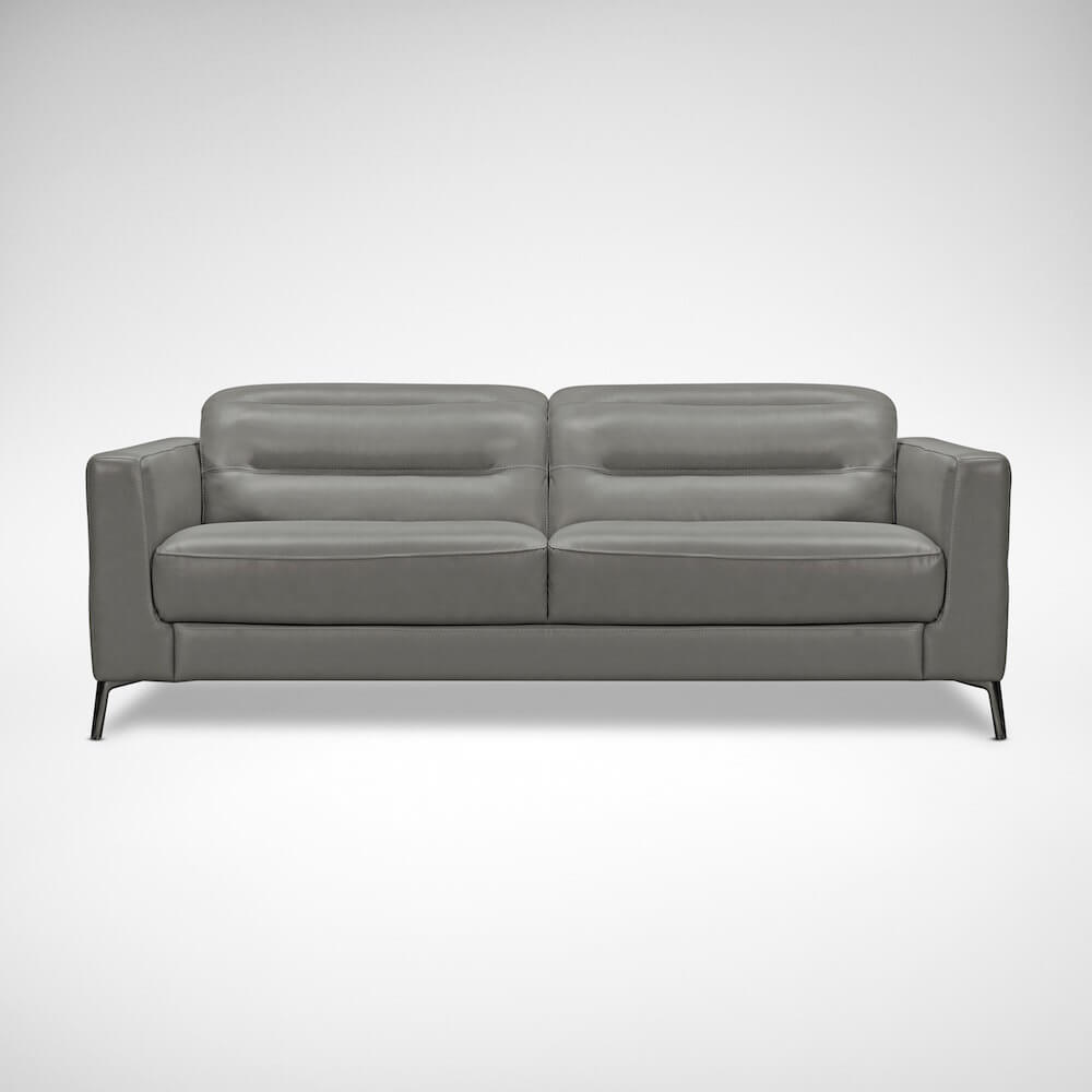 Semi Aniline Enjiro Half Leather Sofa - Comfort Furniture