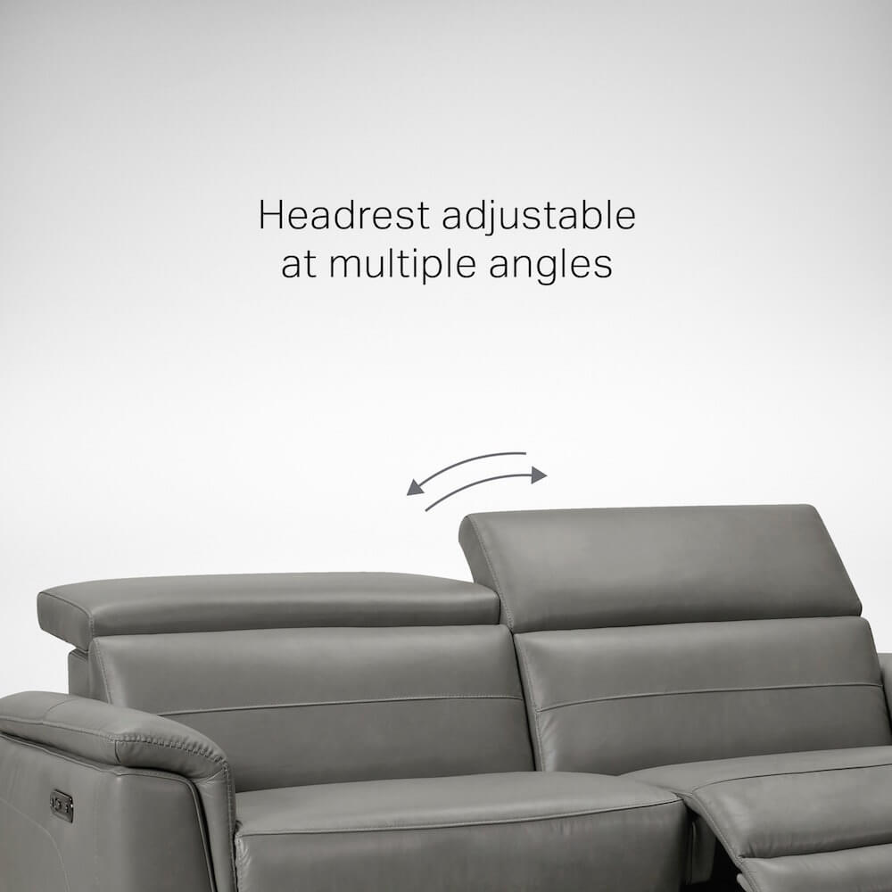 Sofa with Adjustable Headrest for Support - Comfort Furniture
