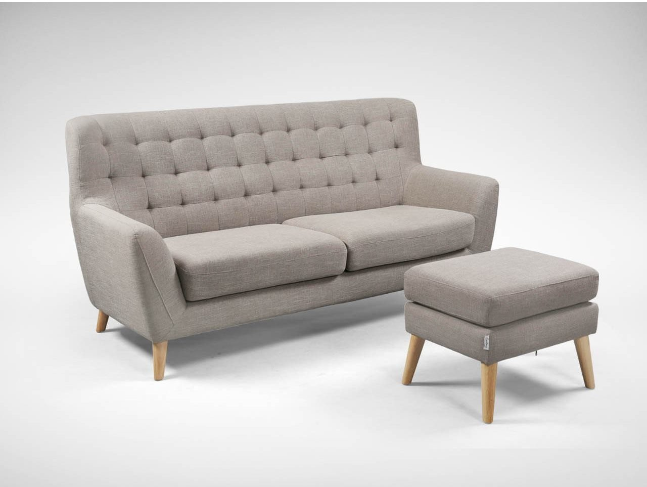 Ottoman with Sofa For Extra Seating in The Living Room - Comfort Furniture