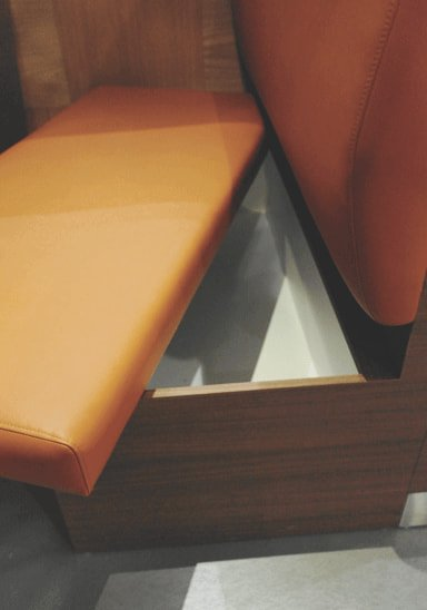 Booth Bench that Contained Storage Under the Cushion - Comfort Furniture