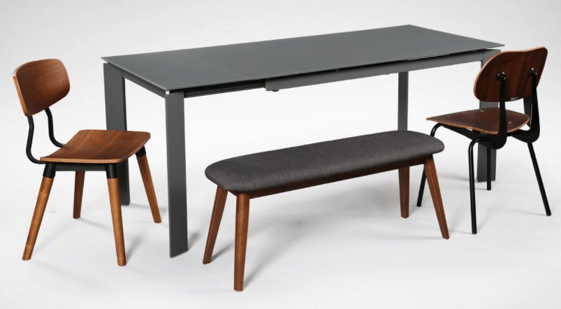 Extendable Table that Matches with Bench and Wooden Chair - Comfort Furniture