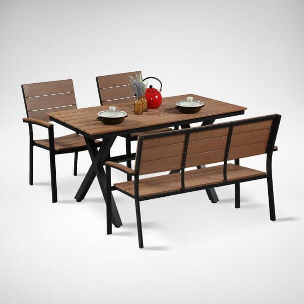 Match Dining Wooden Chair with Bench - Comfort Furniture