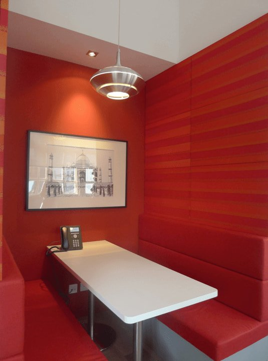 Red Color Themed Booth Seating Combination - Comfort Furniture