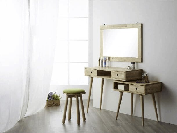 Simple Design Ideas with Mirrors & Dressing Table for Small Bedroom - Comfort Furniture
