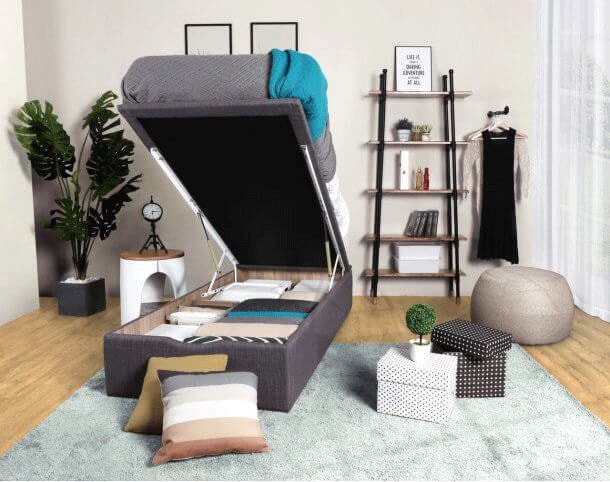 Single Bed Frame with Storage to Maximise Small Bedroom Space - Comfort Furniture