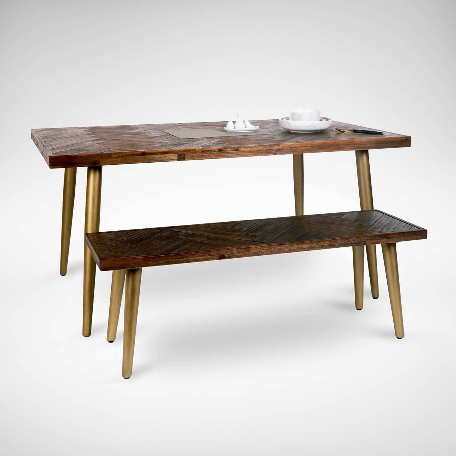 Wooden Dining Bench with Mobility - Comfort Furniture
