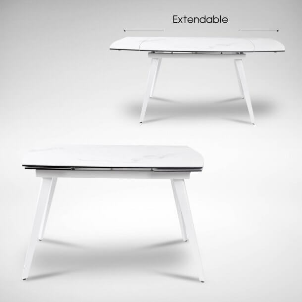 Extendable Table Made of Ceramic - Comfort Furniture
