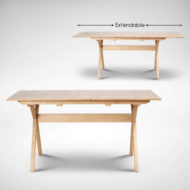 Wooden Made Extendable Dining Table - Comfort Furniture
