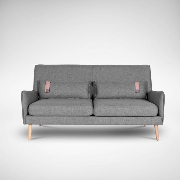 Scandinavian Style Sofa with Additional Cushions - Comfort Furniture