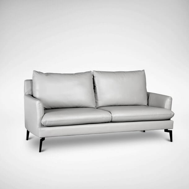 Half Leather Kimberly Sofa Side View - Comfort Furniture