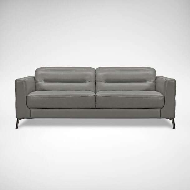 Half Leather Two Seater Sofa for a Scandinavian Look - Comfort Furniture