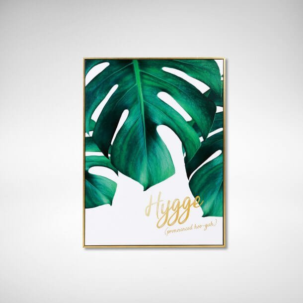 Poster with Leaf Picture in Frame - Comfort Furniture