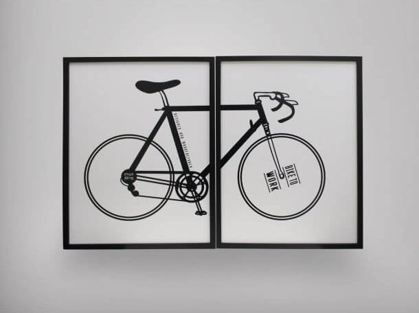 Merging Bicycle Poster on Wall - Comfort Furniture