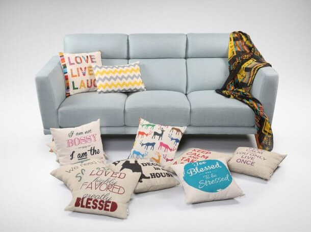 Simple Sofa Decorations with Pillow Cushions - Comfort Furniture
