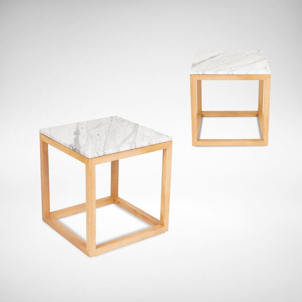 Side Table with Marble Tops - Comfort Furniture