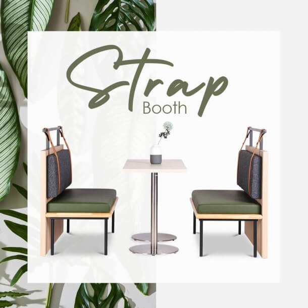 Attractive Strap Booth Chairs for Restaurants - Comfort Furniture