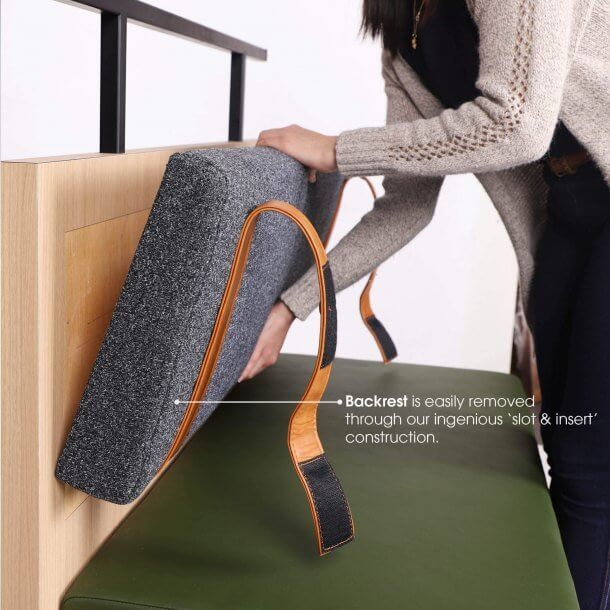Easily Insert and Removable Strap Cushion - Comfort Furniture