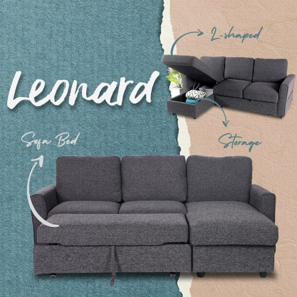 Leonard L-Shaped Sofa - Comfort Furniture