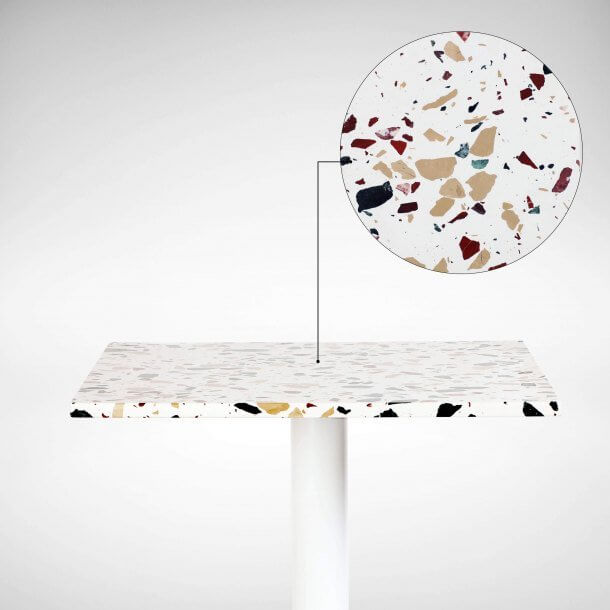 Terrazzo Tiled Tables for Cafe's & Restaurants - Comfort Furniture