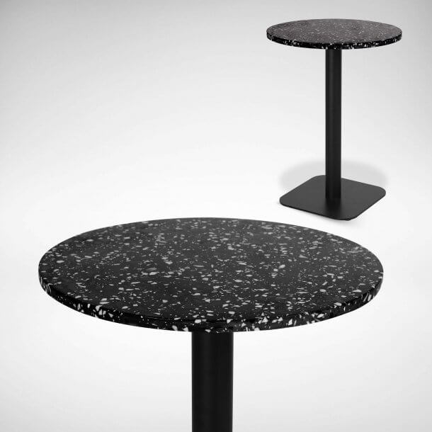 Cafe Table with Terrazzo Top - Comfort Furniture