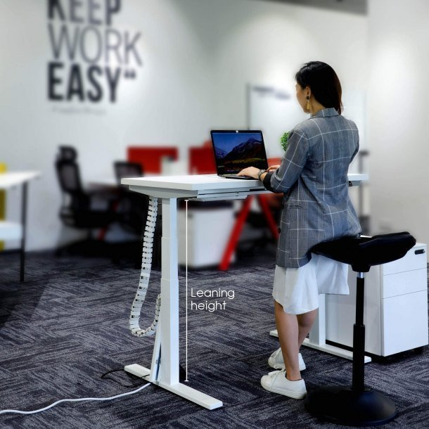 Tito Workstation at Leaning Height - Comfort Furniture