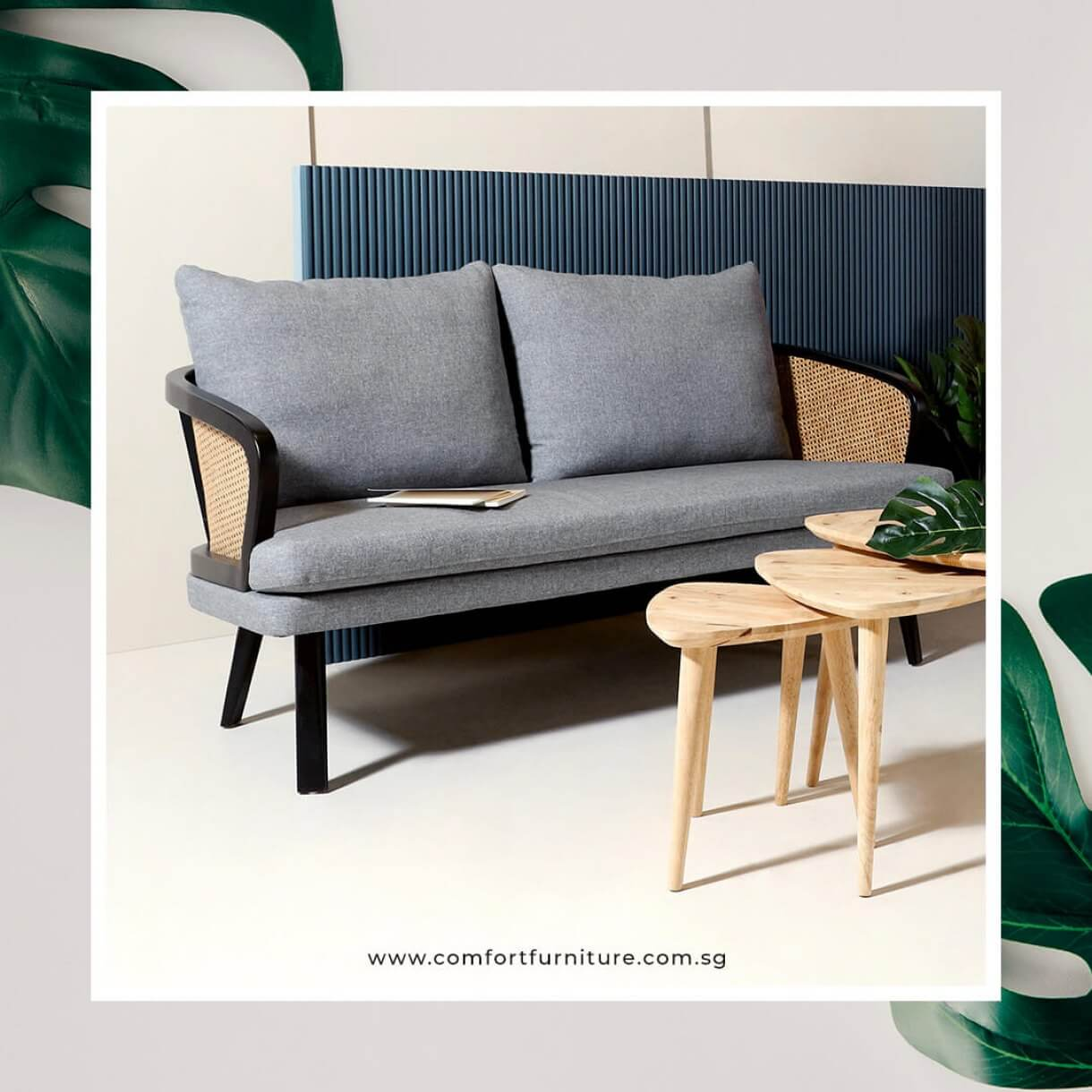Keep Up with Interior Design Trend with Rafael Rattan Sofa - Comfort Furniture