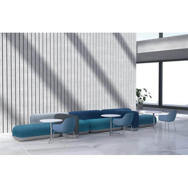 Blue Coloured Stylish Sofa for Office Purposes - Comfort Furniture