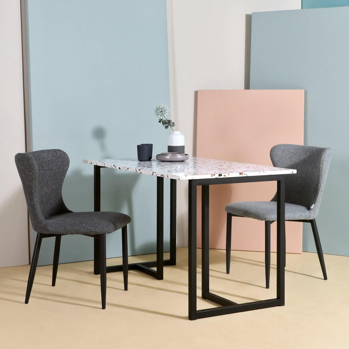 Try Out Vintage Furniture Trends with Ricky Terrazzo Dining Table - Comfort Furniture