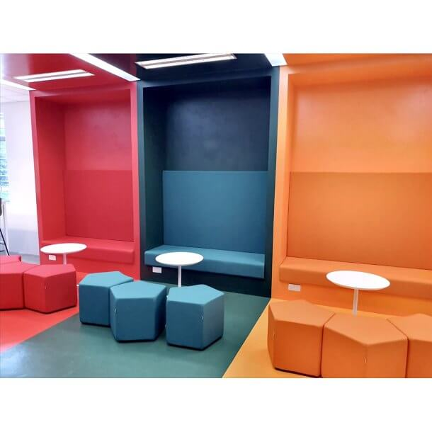 Contrast Coloured Office Chilling Area - Comfort Furniture