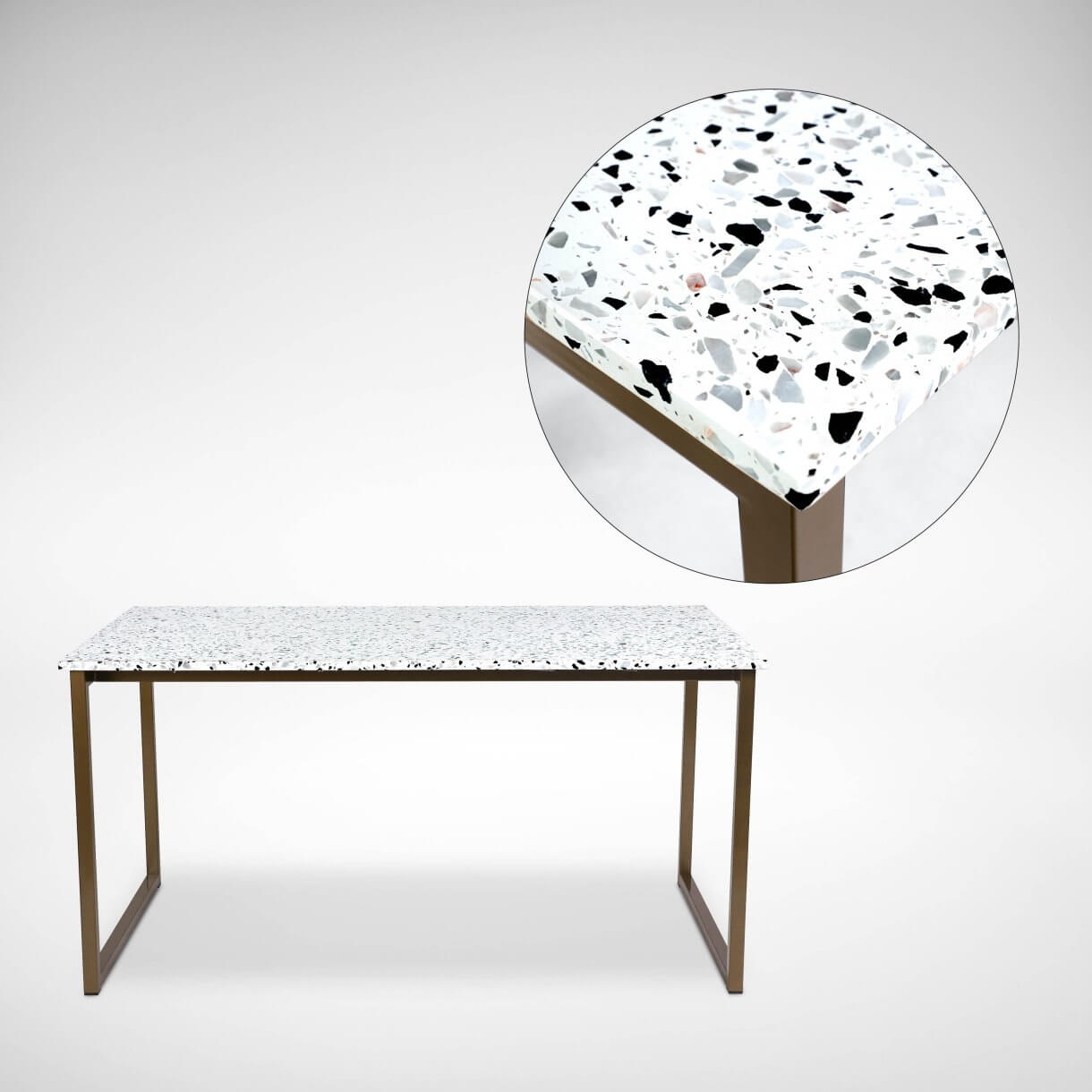 Add a Touch of Vintage with Long-lasting Terrazzo Dining Table - Comfort Furniture