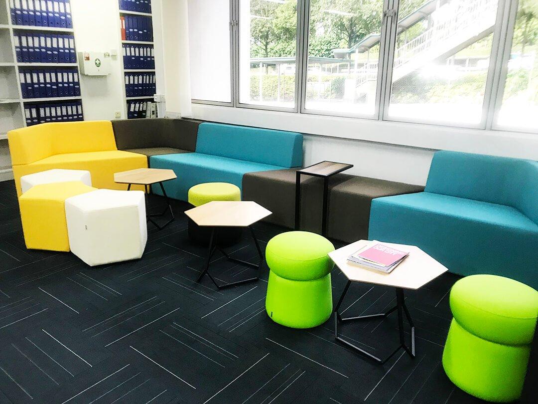 Vibrant Coloured Stools - Comfort Furniture