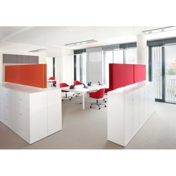 Discussion Space with Coloured Partition - Comfort Furniture