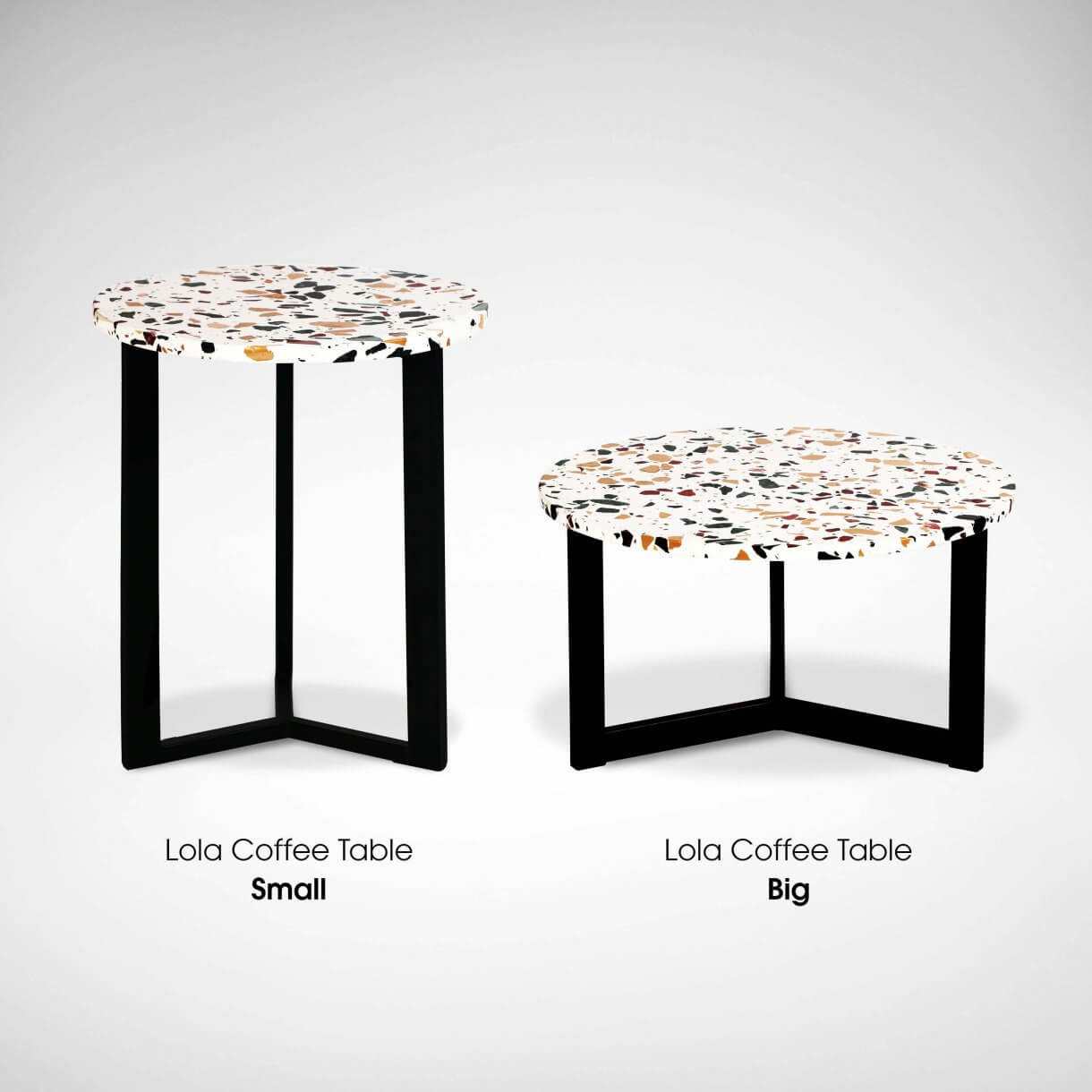 Lola Terrazzo Coffee Table with Height Variations - Comfort Furniture