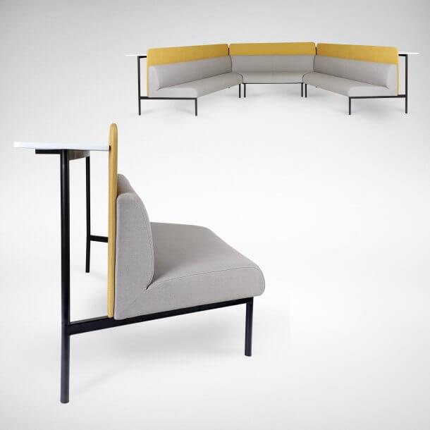 High Back Modular Sofa for Office Use - Comfort Furniture