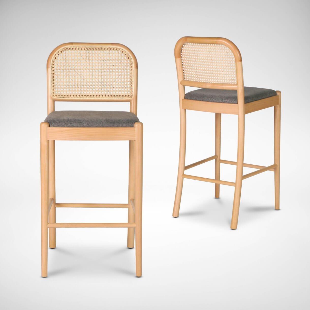 Kloop Rattan Barchair with a Modern Vintage Twist - Comfort Furniture
