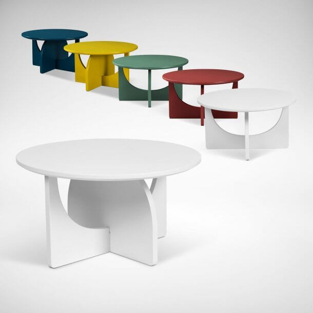 Minimalist Low Colourful Tables for Cool Interior Decoration - Comfort Furniture