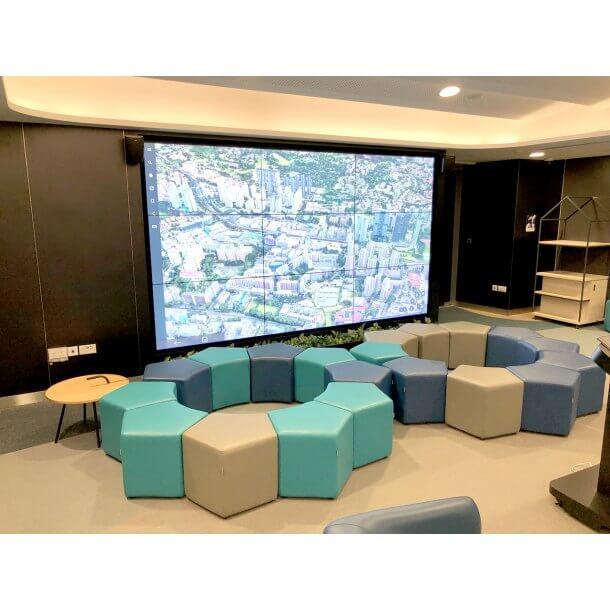Vibrant Coloured Hexagon Shaped Stool - Comfort Furniture
