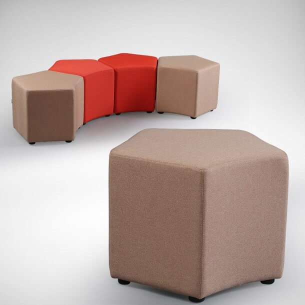 Hexagon Shaped Stool for Decoration Purposes - Comfort Furniture