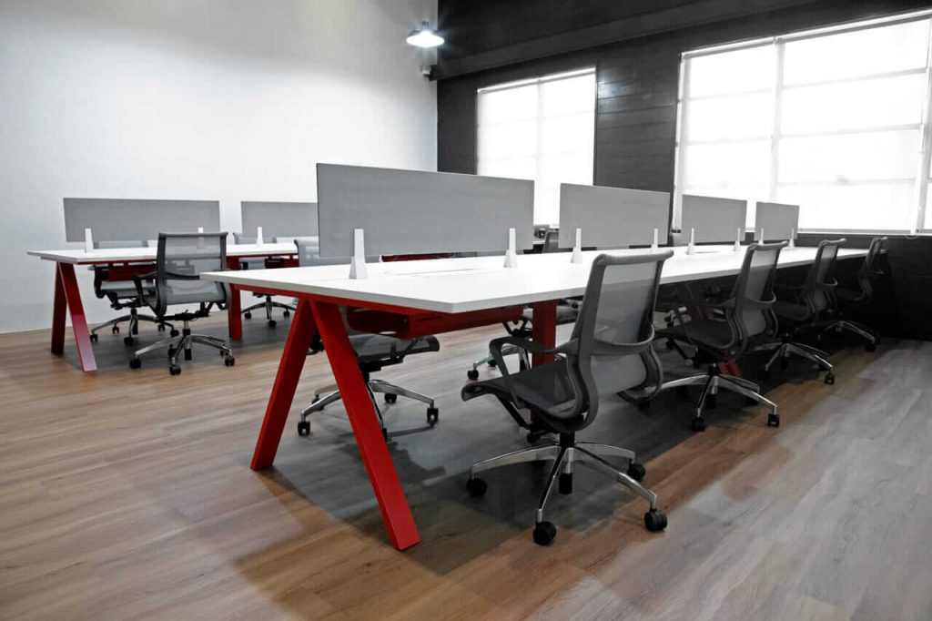Office Tables with Partition for Extra Privacy - Comfort Furniture