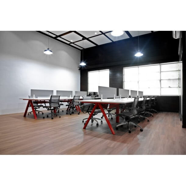Working Space with Melamine Partition - Comfort Furniture
