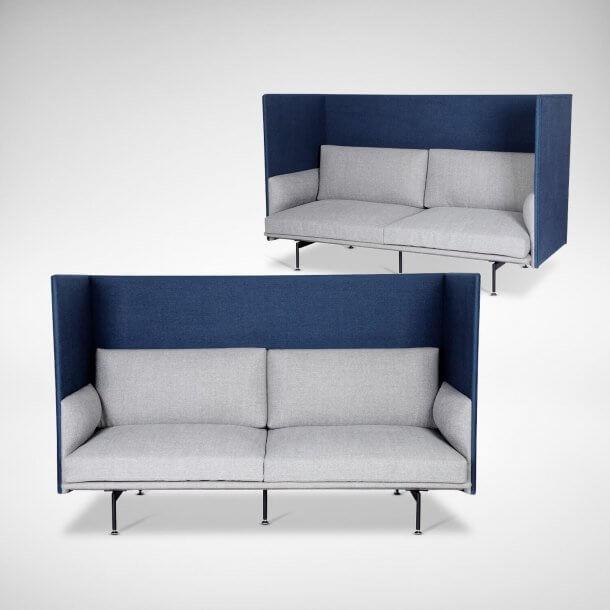 Two Seater Modern Designed Sofa - Comfort Furniture