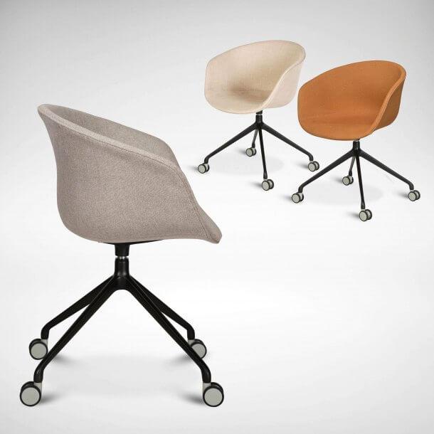 Upholstered Swivel Office Desk Chair - Comfort Furniture
