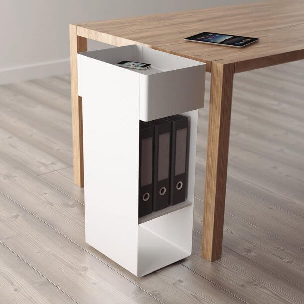 White Pedestal to Store Daily Work Files - Comfort Furniture