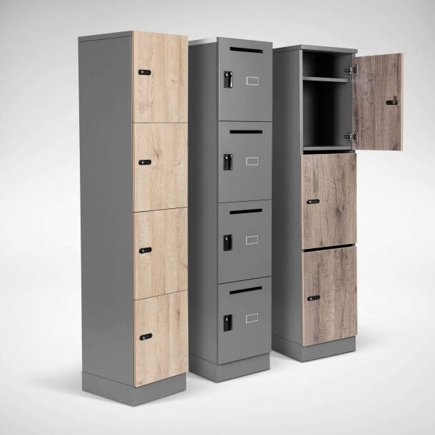 Wooden Multi-Compartment Office Locker - Comfort Furniture