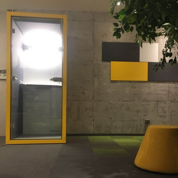 Yellow Coloured Office Working Pod Space for Employees - Comfort Furniture