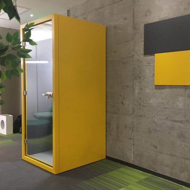 Yellow Coloured Office Pod - Comfort Furniture